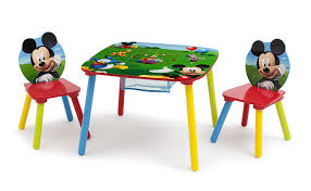 mickey mouse end table amazon com disney mickey mouse storage table and chairs set by