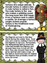 activities thanksgiving centers literacy centers
