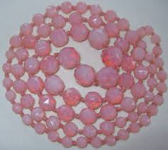 vintage beads necklace images Opal glass collection on ebay jpg
