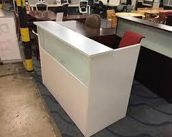 Metal Reception Desk Reception Desk Etsy