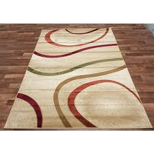 Orange Modern Rug Orange And Green Area Rugs Modern Tangy Swirls Area Rug In Beige