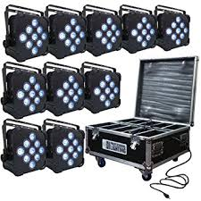 led battery powered wireless dmx 10 lights with