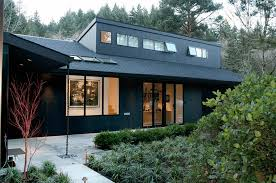 mid century house black exterior ideas for a hauntingly beautiful home