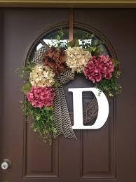 Door Monogram Decoration Monogram Front Door Decoration Spring Wreath For Front Door