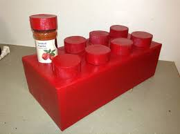 Red Spice Rack Lego Brick Spice Rack 13 Steps With Pictures