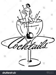 retro martini clip art cocktails banner retro clip art illustration stock vector