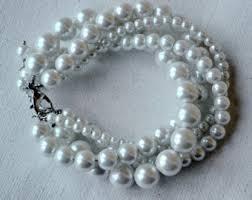 glass pearl bracelet images Glass pearl bracelet etsy jpg