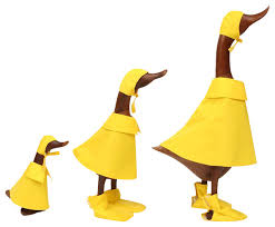teak puddle ducks eclectic garden statues and yard by