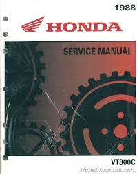 1988 honda vt800c motorcycle service manual