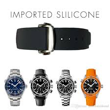 silicone strap bracelet images 20mm watch strap bands men women orange black waterproof silicone jpg