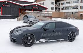porsche panamera modified bentley flying spur mule spied wearing porsche panamera suit