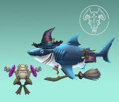 Hungry Shark Map Artstation Witch Hungry Shark World Johanna Cranston