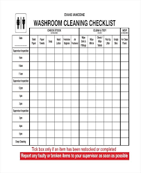cleaning report template office bathroom cleaning schedule free pdf template