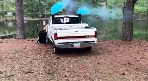 Rebel Mud Truck - redneck gender reveal goes terribly wrong when father starts truck