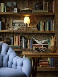 Rustic Book Shelves by Interiors Rustic Bookshelves U0026 Baby Blue Armchair 156513 On