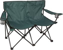 Double Seat Folding Chair Loveseat Style Double Camp Chair With Steel Frame By Trademark