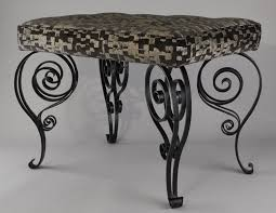 wrought iron bench ends wrought iron art deco bench for sale at pamono