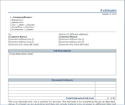 Sle Invoice Template Excel Estimate Templates 28 Images Excel Work Estimate Invoice