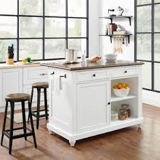 white kitchen island with seating kitchen islands carts you ll wayfair