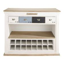 White Distressed Desk distressed wood bar unit with drawers in white w 129cm molene
