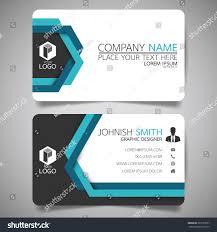 blue line modern creative business card stock vector 569757697