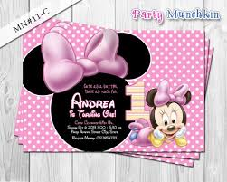 minnie mouse invitations baby minnie mouse invitations baby minnie digital invite