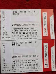 inaugural sold out champions league darts cardiff motorpoint arena
