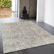 Blue And White Striped Rugs Uk Buy Online Camden Black White Geometric Wool Rug Therugshopuk