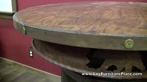 Whiskey Barrel Pub Table Rustic Whiskey Barrel Pub Table From Logfurnitureplace Com Youtube