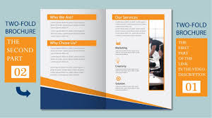2 fold brochure template illustrator tutorial two fold business brochure template part 02