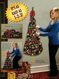 charming decoration half christmas tree for wall diy wallmounted