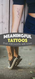 25 meaningful tattoos for introverts