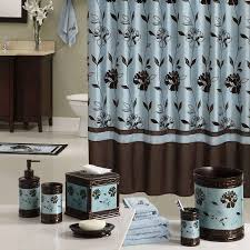 Blue Bathrooms Decor Ideas Blue Brown Bathroom Ideas Black Mosaic Tiles Shower Room Divider