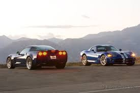 corvette vs viper comparison test 2008 dodge viper srt 10 coupe vs 2007 chevrolet