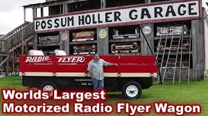 the worlds largest and fastest motorized radio flyer wagon youtube