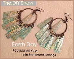 cd earrings how green earrings made from cds diy earrings cd earrings