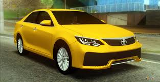 yellow toyota camry 2016 for gta san andreas