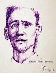 tom hiddleston pen sketch by riotfaerie on deviantart