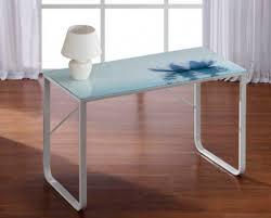 plateau bureau verre plateau bureau verre avec pattes en métal blanc