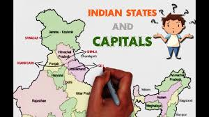 Map States And Capitals by Indian States And Capitals Explained On Map Of India Easy To