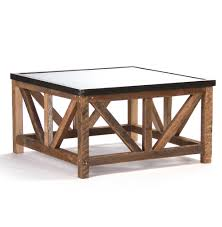 Rustic Coffee Tables And End Tables Regan Zinc Top Chunky Reclaimed Wood Rustic Coffee Table Kathy