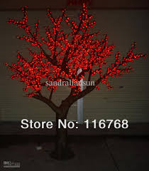 2018 2 5m led lighted trees with artificial blossoms