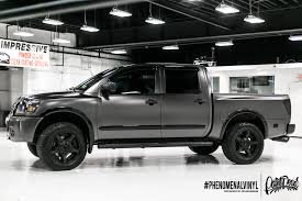 nissan trucks black 2012 nissan titan pickup in satin black nero phenomenalvinyl