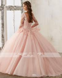 quinceanera pink dresses ysfs sleeve baby pink gown quinceanera dresses v neck