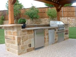 outdoor kitchen area with grilling station fort worth texas