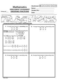 ordering fractions using the lcm method by jinkydabon teaching