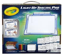 amazon com crayola light up tracing pad blue coloring board