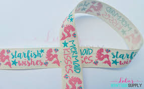 grosgrain ribbons mermaid ribbon 7 8 grosgrain ribbon mermaid kisses starfish