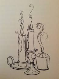 candles flickering sketch discovered by obsessively calm