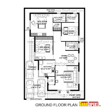 house plan for feet by plot size square yards south facing modern